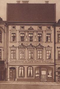 Konditorei Trömel, Syrastraße 2, Geschäftsgründung 5. Februar 1880