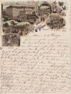 Kartenbrief vom Kaffeehaus Trömel in Plauen, 04.12.1897
