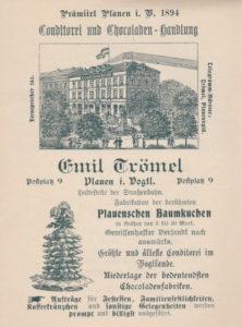 Werbung für das Kaffeehaus Trömel, vor 1910