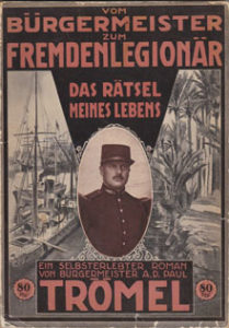 Roman von Otto Paul Trömel über sein Leben in der Fremdenlegion