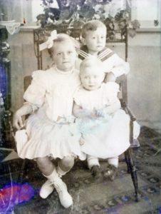 die drei Kinder von Otto Paul Trömel, Rosemarie, Hans-Heinz und Irmgard