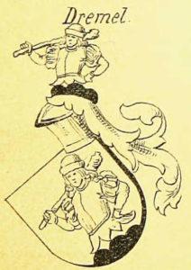 Wappen der Brüder Dremel, verliehen 1471 in Regensburg
