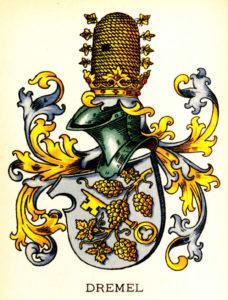 Farbige Darstellung des Wappens von Philipp Dremel