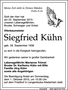 Siegfreid Kühn - Marianne Trömel