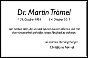 Dr. Martin Trömel
