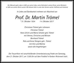 Prof. Dr. Martin Trömel