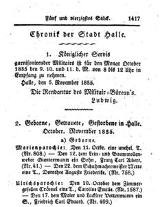 Caroline Emilie Trömel, 1835