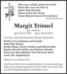 Margit Trömel