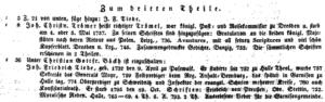 Joh. Christian Trömel, 1721
